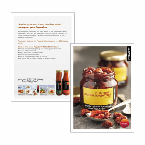 Peppadew Recipe Card